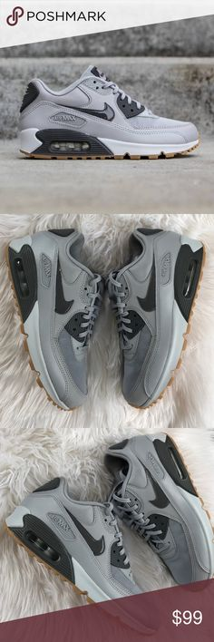 NWT air max 90 grey wolf  Brand new no box lid! No trades price is firm Featuring the superb cushioning and classic silhouette that made this shoe famous, the Nike Air Max 90 Essential Women's Shoe delivers comfort and timeless style with a premium look.Premium leather upper for comfort and durability Durable foam midsole with a Max Air unit in the heel for maximum impact protection Rubber outsole with modified Waffle pattern for traction and durability Strategic nylon overlays for…