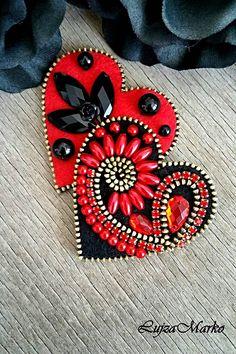 Odznaky/Brošne - Double love brošňa - 7625995_