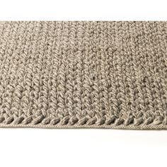 Braided handvävd ullmatta, Grå/Vit melerad - 140x200 | TheHome.se