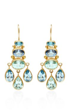 One of a Kind Mint Paraiba Chandelier Earrings by Mallary Marks for Preorder on Moda Operandi