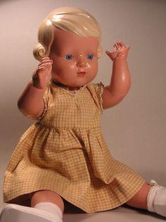 34cm Provided Alte Götz Puppe 28 Kunststoff Doll