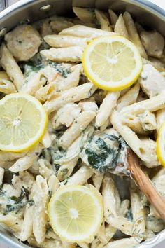 creamy lemon chicken and kale - lose the pasta