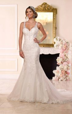 ba88bd66fe2 New at Uptown Bridal www.uptownbrides.com 6217 Lace Wedding Gown by Stella  York