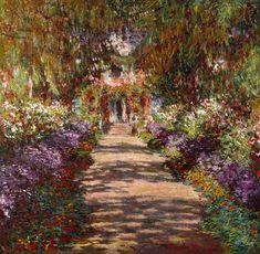 Monet Claude - Allee in Giverny (Auch Gartenweg genannt)