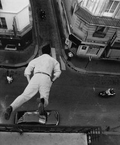 a photo by yves klein
