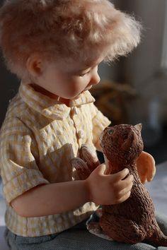 OOAK artist dolls composition Best friends by NataliyaPlatova,