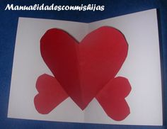 Manualidades con mis hijas: Tarjeta con corazón que sobresale