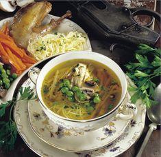 Újházy-fácánleves – Receptletöltés Ramen, Comb, Ethnic Recipes