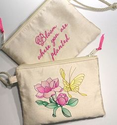 Bridesmaid Clutch Wrislet Makeup Bag Bloom by AprilNineDesigns