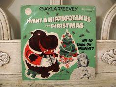 Vintage Christmas Record - I Want a Hippopotamus for Christmas. $10.00, via Etsy.