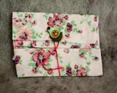 Porta Lenços e Absorventes Floral Rosa