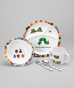 The Very Hungry Caterpillar™ Plate Set | Pottery Barn Kids | Products | Pinterest  sc 1 st  Pinterest & The Very Hungry Caterpillar™ Plate Set | Pottery Barn Kids ...