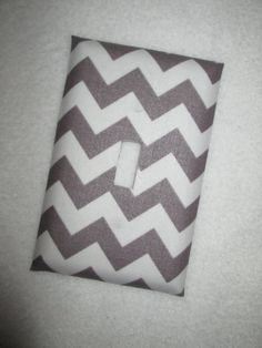 grey chevron light switch plate by SewSweetStitchesBaby on Etsy, $8.00, I LIKE THIS ONE BETTER!! BABY ROOM IDEAS