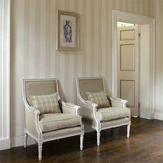 Zoffany Wallpaper Linen Stripe