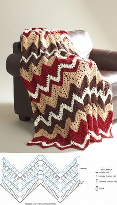 Cabin In The Woods - free crochet blanket Pattern <3