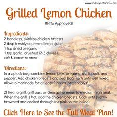 Grilled Lemon Chicken - part of my PiYo meal plan!
