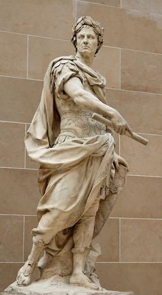 Statue of Roman Emperor Julius Caesar outside the Louvre, Paris. Originally posted by http://pinterest.com/alannahrichards/