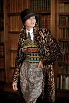 Velvet Shawl Collar Jacket with Plaid Trousers