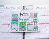 Lilly Pulitzer Inspired Weekly Set Up Planner Stickers for Filofax, Kikki K, Erin Condren, ECLP