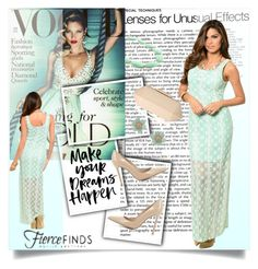 """""""Lace Maxi Dress with Fierce Finds"""" by elma-a ❤ liked on Polyvore featuring Gianvito Rossi, Lipsy and fiercefinds"""