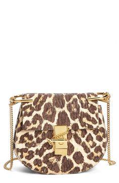 Chloé 'Drew' Leopard Print Leather Shoulder Bag available at #Nordstrom
