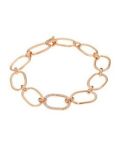 White-diamond & rose-gold bracelet | Irene Neuwirth | MATCHESF...