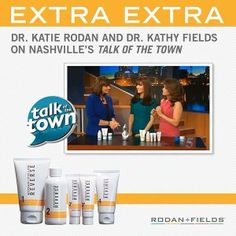 "MEDIA BUZZ! Dr. Rodan + Dr. Fields appeared on Nashville's ""Talk of the Town"" last Week, to talk about Fighting The Signs of Aging! Featuring Reverse Regimen, AMP MD Roller, MACRO Exfoliator and Redefine Regimen!   Click here to watch -- ONLY 4:02 minutes -http://www.newschannel5.com/Global/category.asp?C=125220&autoStart=true&topVideoCatNo=default&clipId=9858725  Take a look and then message me about saving 10%, free shipping, and $20 cash back! www.jturner1.myrandf.com"