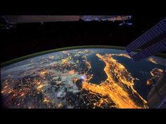 Time-lapse footage of the Earth as seen from the ISS