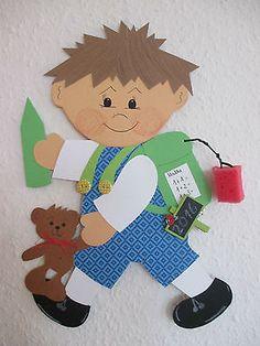 Fensterbild Tonkarton Schulkind Oscar L,Frühling,Sommer, Einschulung Geschenk