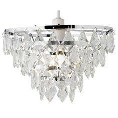 Glass Chandelier - Floor Lamp - Chrome from Homebase.co.uk | Home ...
