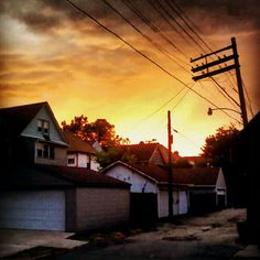 Sunset in the backyard, Detroit