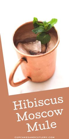 This Hibiscus Mule cocktail is a fun twist on the classic Moscow Mule. With vodka and hibiscus juice, this easy recipe can be made in 5 minutes and is floral and refreshing. It's a great drink idea to sip in spring and summer. Vodka Cocktails, Non Alcoholic Drinks, Cocktail Drinks, Cocktail Recipes, Beverages, Moscow Mule Recipe, How To Make Beer, Ginger Beer, Strawberry Recipes