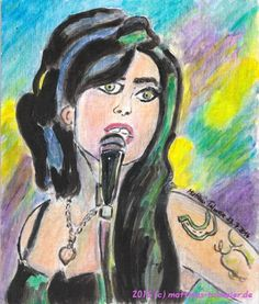 """Amy Winehouse - In Memoriam 2016"" #Acrylic #'Painting #Portrait #AmyWinehouse"