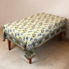 Tablecloth Rectangular 60 X 90 Spring Decorations Indian Floral Cotton