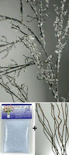 Decorating with branches is an easy way to bring nature home! Try your DIY skills on branch chandeliers, lighted branch decor, and more! Christmas Decor Diy Cheap, Christmas Projects, Christmas Tree Decorations, Christmas Crafts, Christmas Ornaments, Xmas Trees, Room Decorations, Tree Branch Decor, Tree Branches