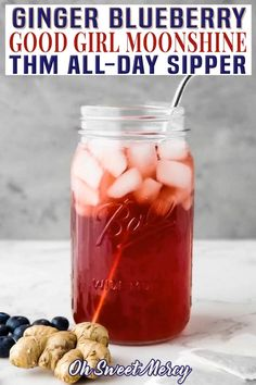 Thm Recipes, Real Food Recipes, Drink Recipes, Good Girl Moonshine, Non Alcoholic Drinks, Acv Drinks, Beverages, Detox Drinks, Blueberry Tea