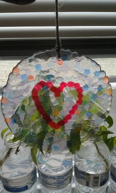 melted plastic beads | Suncatcher made from melted plastic pony beads | DIY and Crafts