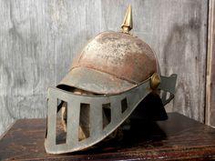 Very Unusual / Very Old 1800s Spiked Armor Helmet. $225.00, via Etsy.