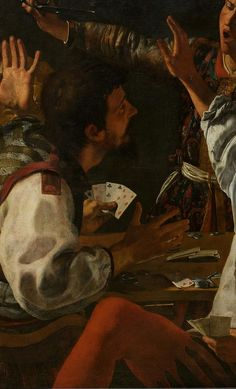 Card and backgammon player (detail), 1630 Theodoor #Rombouts #ArtLovers #Baroque @VicoLudovico @alecoscino @MP27_