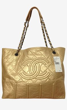 Chanel Gold Tote