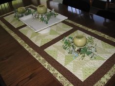 """table topper made by """"mlt150"""" on the Missouri Star Quilt Company's forums."""