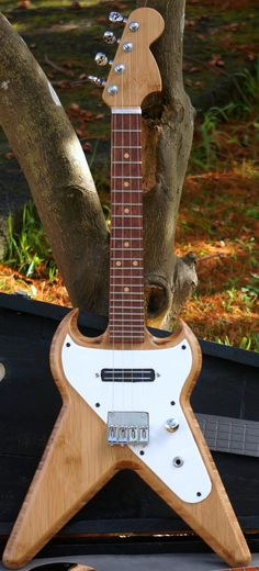 Mike Hawkey Taniwha SGV electric Ukulele (for when you cant decide which electric guitar to copy) --- https://www.pinterest.com/lardyfatboy/