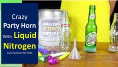 Liquid Nitrogen Horn at Kids Bithday Party with : Cool Science Idea for Kids Science Demonstration in School , Class, Home Birthday Party. #science #scienceexperiments