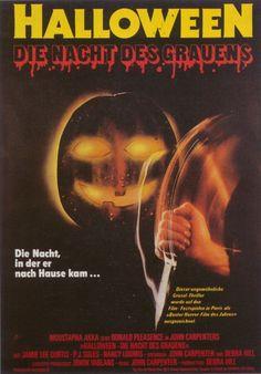 German poster for John Carpenter's Halloween (1978)