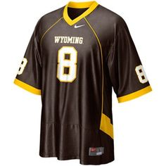 Nike Wyoming Cowboys  8 Replica Football Jersey - Brown eb4a393c7