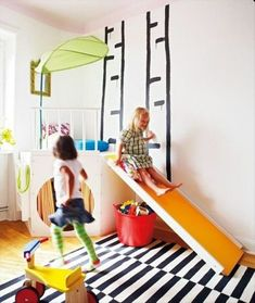 Creative and cool ideas to turn the nursery into a play paradise - Kids love to climb, clamber and do tricks. Turn the nursery into a great play paradise. Indoor Playroom, Small Playroom, Playroom Ideas, Waldorf Playroom, Loft Playroom, Playroom Design, Playroom Furniture, Kids Furniture, Furniture Design