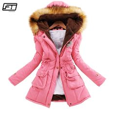 6632496befec Fitaylor Winter Plus Size Jacket Women Warm Hooded Parka Mujer Thick Cotton  Black Padded Coat Female