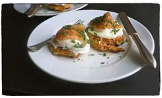 Best Smoked Salmon Potato Cakes With Herb Creme Fraiche Recipe on ...