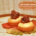 Mini Pumpkin Cupcakes with Cinnamon Chocolate Frosting
