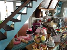 Pasteleria miniatura bakery coffee dollhouse cupcake shop